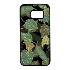 Autumn Fallen Leaves Dried Leaves Samsung Galaxy S7 Black Seamless Case by Nexatart