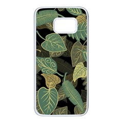 Autumn Fallen Leaves Dried Leaves Samsung Galaxy S7 White Seamless Case by Nexatart