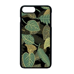 Autumn Fallen Leaves Dried Leaves Apple Iphone 7 Plus Seamless Case (black)