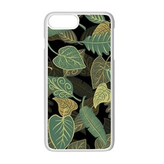 Autumn Fallen Leaves Dried Leaves Apple Iphone 7 Plus Seamless Case (white)