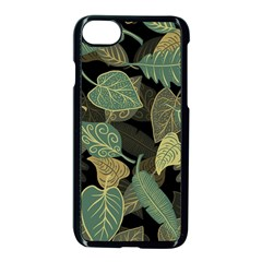 Autumn Fallen Leaves Dried Leaves Apple Iphone 7 Seamless Case (black)