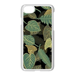 Autumn Fallen Leaves Dried Leaves Apple Iphone 7 Seamless Case (white)