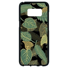 Autumn Fallen Leaves Dried Leaves Samsung Galaxy S8 Black Seamless Case by Nexatart