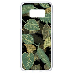 Autumn Fallen Leaves Dried Leaves Samsung Galaxy S8 White Seamless Case by Nexatart