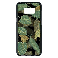 Autumn Fallen Leaves Dried Leaves Samsung Galaxy S8 Plus Black Seamless Case by Nexatart