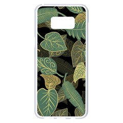 Autumn Fallen Leaves Dried Leaves Samsung Galaxy S8 Plus White Seamless Case