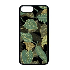 Autumn Fallen Leaves Dried Leaves Apple Iphone 8 Plus Seamless Case (black)