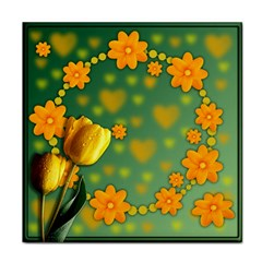 Background Design Texture Tulips Tile Coasters