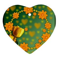 Background Design Texture Tulips Ornament (heart)
