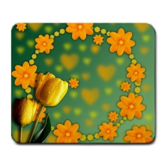 Background Design Texture Tulips Large Mousepads