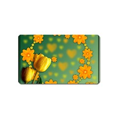 Background Design Texture Tulips Magnet (name Card)