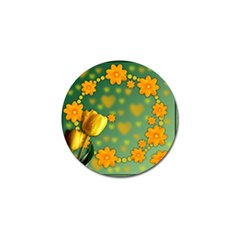 Background Design Texture Tulips Golf Ball Marker (4 Pack)