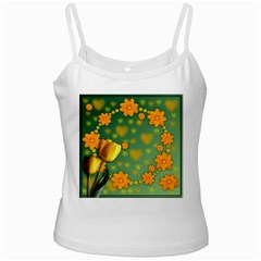 Background Design Texture Tulips Ladies Camisoles