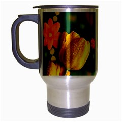 Background Design Texture Tulips Travel Mug (silver Gray)