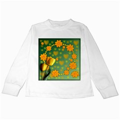 Background Design Texture Tulips Kids Long Sleeve T Shirts
