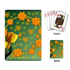 Background Design Texture Tulips Playing Cards Single Design