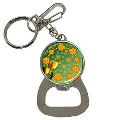 Background Design Texture Tulips Bottle Opener Key Chains