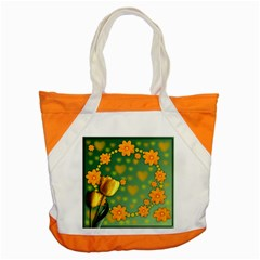 Background Design Texture Tulips Accent Tote Bag