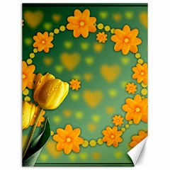 Background Design Texture Tulips Canvas 12  X 16