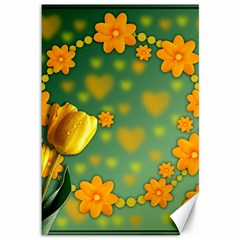 Background Design Texture Tulips Canvas 12  X 18