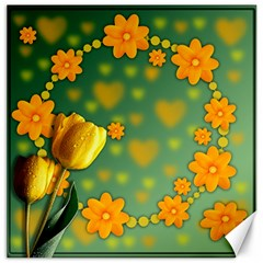 Background Design Texture Tulips Canvas 16  X 16
