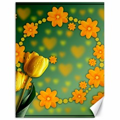 Background Design Texture Tulips Canvas 18  X 24