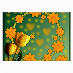Background Design Texture Tulips Large Glasses Cloth (2 Side)