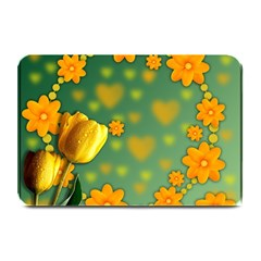Background Design Texture Tulips Plate Mats