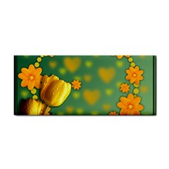 Background Design Texture Tulips Hand Towel
