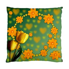 Background Design Texture Tulips Standard Cushion Case (one Side)