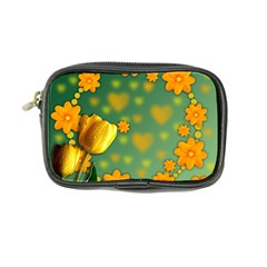 Background Design Texture Tulips Coin Purse