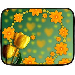 Background Design Texture Tulips Double Sided Fleece Blanket (mini)