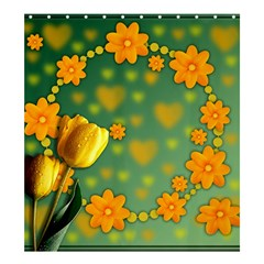 Background Design Texture Tulips Shower Curtain 66  X 72  (large)