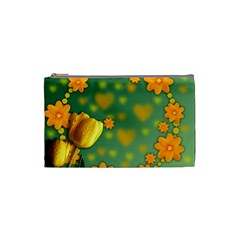 Background Design Texture Tulips Cosmetic Bag (small)