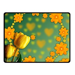 Background Design Texture Tulips Fleece Blanket (small)