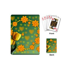 Background Design Texture Tulips Playing Cards (mini)