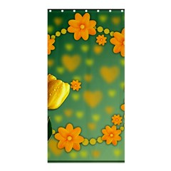 Background Design Texture Tulips Shower Curtain 36  X 72  (stall)