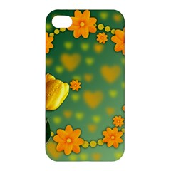 Background Design Texture Tulips Apple Iphone 4/4s Premium Hardshell Case