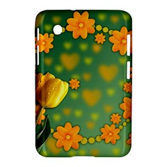 Background Design Texture Tulips Samsung Galaxy Tab 2 (7 ) P3100 Hardshell Case