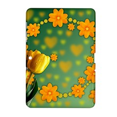 Background Design Texture Tulips Samsung Galaxy Tab 2 (10 1 ) P5100 Hardshell Case