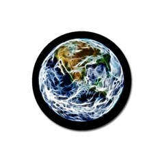 Spherical Science Fractal Planet Magnet 3  (round) by Nexatart