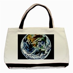 Spherical Science Fractal Planet Basic Tote Bag (two Sides) by Nexatart