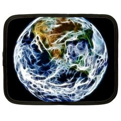 Spherical Science Fractal Planet Netbook Case (large) by Nexatart