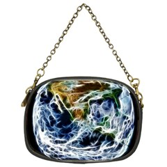 Spherical Science Fractal Planet Chain Purse (one Side) by Nexatart