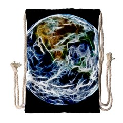 Spherical Science Fractal Planet Drawstring Bag (large)