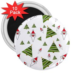 Christmas Santa Claus Decoration 3  Magnets (10 Pack)