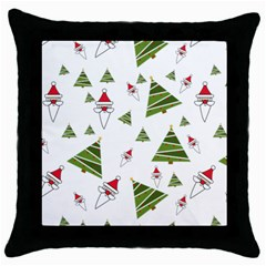 Christmas Santa Claus Decoration Throw Pillow Case (black) by Nexatart
