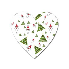 Christmas Santa Claus Decoration Heart Magnet by Nexatart