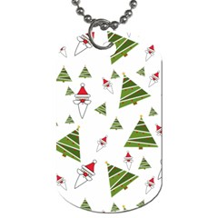 Christmas Santa Claus Decoration Dog Tag (one Side) by Nexatart