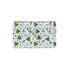Christmas Santa Claus Decoration Cosmetic Bag (small) by Nexatart